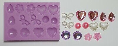 £6.99 • Buy Mini Gems Set Silicone Mould For Cake Toppers, Resin, Chocolate Etc