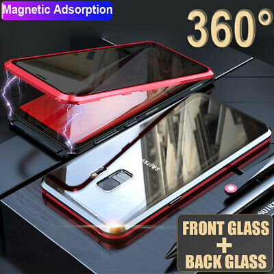 $ CDN11.33 • Buy Privacy Anti-peeping Magnetic Double Glass Case Cover For Samsung Galaxy S8 S9