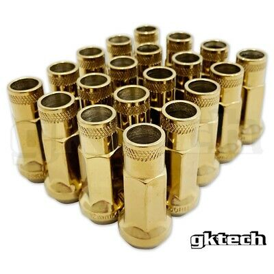 $38 • Buy GKTECH M12x1.25 Steel Tuner Lug Nuts - Pack Of 20 - Gold