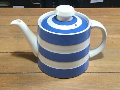 TG Green Cloverleaf Cornishware Teapot, Made In England • 50£