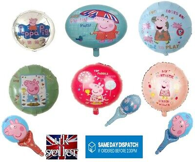 Large Peppa Pig 18 Inch Birthday Party Foil Helium Or Handheld 11 Inch Balloon  • 1.59£