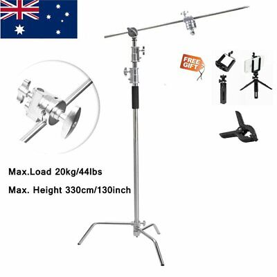 AU189.89 • Buy 11ft C Stand On Turtle Base Kit, 50  Extension Arm Two 3.5  Grip Heads Au Stock