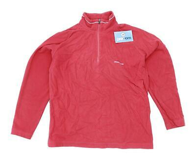 Craghoppers Womens Size 14 Fleece Blend Red Half Zip Jacket • 10£