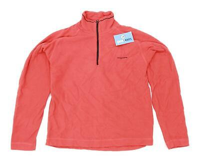 Craghoppers Womens Size S Fleece Blend Orange Half Zip Jacket • 10£