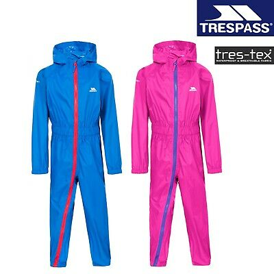 £16.99 • Buy Trespass Children's Full Zip Waterproof Breathable All In One Rain Puddle Suit