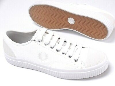 Fred Perry Hughes Canvas Mens Shoes Trainers Uk Sizes 8 To 11   B3280 • 42.99£