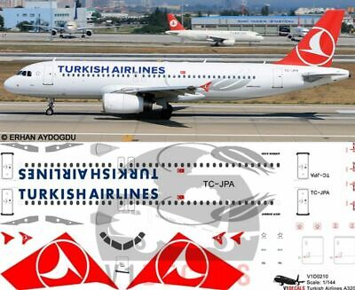 V1 Decals Airbus A320 Turkish Airlines For 1/144 Revell Model Airplane Kit  • 10.74£
