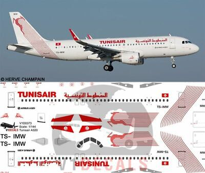 V1 Decals Airbus A320 Tunisair For 1/144 Revell Model Airplane Kit V1D0373 • 10.74£