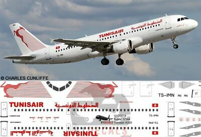 V1 Decals Airbus A320 Tunisair For 1/144 Revell Model Airplane Kit V1D0019 • 10.74£
