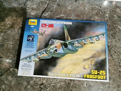Zvezda 1/72 Soviet Attack Aircraft SU-25 Frogfoot # 7227 • 11.99£