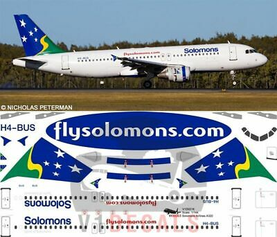 V1 Decals Airbus A320 Solomons Airlines For 1/144 Revell Model Airplane Kit  • 10.74£