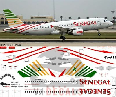 V1 Decals Airbus A320 Senegal Airlines For 1/144 Revell Model Airplane Kit  • 10.74£
