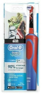 AU29.95 • Buy Extra Soft Oral-B Stages Power Kids Electric Toothbrush Kid Star Wars BRAND NEW