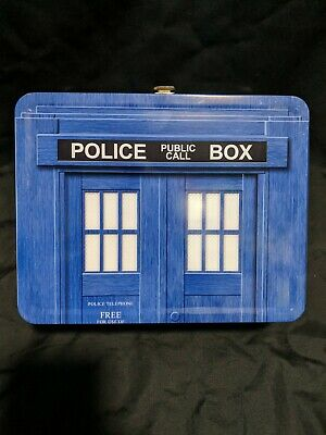 £5.73 • Buy Dr. Who Police Public Call Box Metal Lunch Box Good Condition