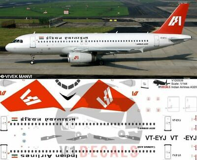 V1 Decals Airbus A320 Indian Airlines For 1/144 Revell Model Airplane Kit  • 10.74£