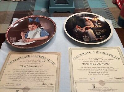 $ CDN14.27 • Buy Lot Of 2 Norman Rockwell Collector Plates