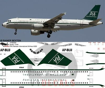 V1 Decals Airbus A320 (PIA) Pakistan Airlines For 1/144 Revell Model Kit • 10.74£