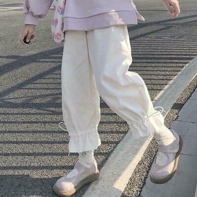 $ CDN32.46 • Buy New Japanese Kawaii Mori Girl Casual Trousers Lolita Loose White Wide Leg Pants