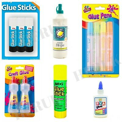 PVA Glue Bottles Washable Safe Glue Ideal School Craft Home Office NON Toxic • 2.99£