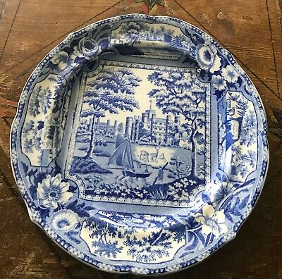 Antique Ridgway Pearlware Blue Transfer Printed  Transferware Plate C1820 • 35£
