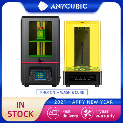 £70 • Buy USED!!ANYCUBIC 3D Printer Photon High Precision Or Wash Cure 2.0 UV Light Curing