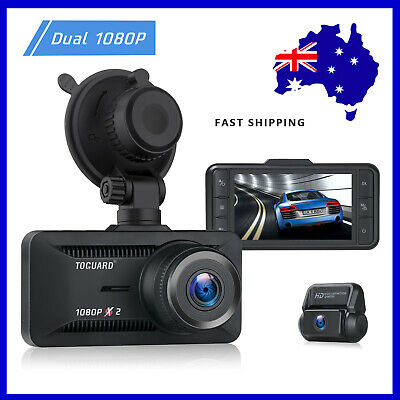 AU88.09 • Buy TOGUARD Both 1080P Dual Dash Cam Front And Rear Dual Lens Car Camera Screen 3 AU