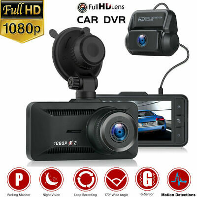 AU85.49 • Buy TOGUARD Dual Lens DashCam Front And Rear 1080P HD Car Video Recorder Camera 170°