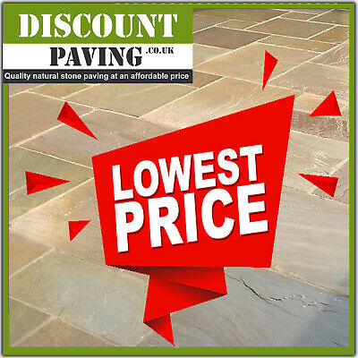 £595 • Buy Raj Green Calibrated 20.70m2 Mix Patio Indian Sandstone Paving Slabs BEST PRICE