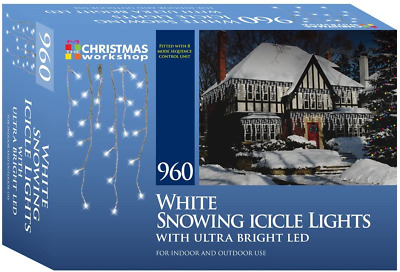 Christmas Workshop 87960 960 Icicle LED Outdoor Christmas Lights | 22.9 Metres | • 50.06£