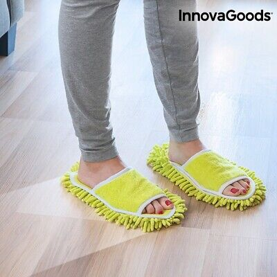 MOP SLIPPERS House Slippersfor Clean And Polish The Floor Microfibre Mops • 10.99£