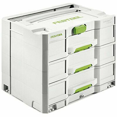 Festool SYS 4 TL-SORT/3 200119 Systainer Box, Grey • 98.87£