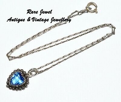 Antique Charles Horner Beautiful Sterling Silver Heart Pendant & Chain 1900-01 • 125£