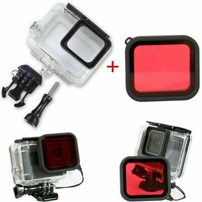 $ CDN16.50 • Buy Waterproof Camera Housing Case+Red Underwater Filter Lens Cover For Gopro Hero 5