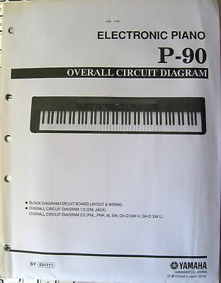 AU56.59 • Buy Yamaha P-90 Digital Electronic Piano Original Overall Circuit Diagram Sheets