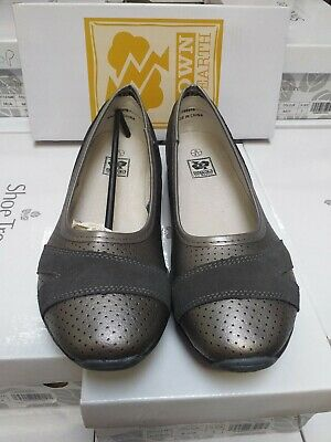 Ladies Down To Earth Flat Ballerina 'Shoes' Pewter Size 8 • 20£