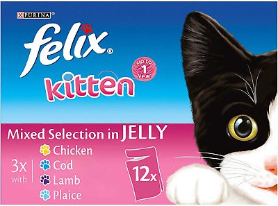 £17.44 • Buy Felix Kitten Cat Food Mixed In Jelly 4 X 12 X 100g 48 Pouches