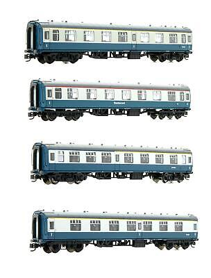 Graham Farish 'n' Gauge Rake Of 4 Br Mk1 Blue & Grey Passenger Coaches • 139.50£