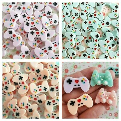 3/5pcs Game Controller Flatback Resin Embellishment Crafts Cabochon Decoden DIY • 1.79£