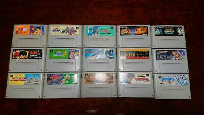 $ CDN131.79 • Buy Lot Of 15 Super Famicom SFC SNES Street Fighter 2 Game Cartridge Set Tested [A]