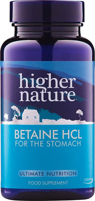 £10.60 • Buy Higher Nature Betaine HCL - Hydrochloric Acid Supplement - 90 Capsules