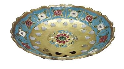 £32.72 • Buy Vintage Moroccan Vase In The Form Of A Plate Fall Brass To Decorate