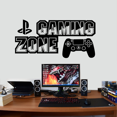 Xbox One Ps4 Gamer Gaming Zone Controller Wall Art Vinyl Gift Decal Sticker V75 • 6.45£