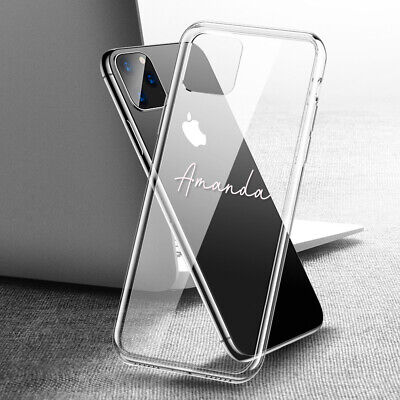 AU5.99 • Buy Personalised Name Clear Case Cover For IPhone 11 8 7 6 5 SE X Xs Pro Max XR Plus