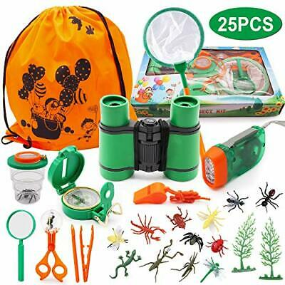 New Outdoor Explorer Kit, 25Pcs Pretend Play Toys For 3 4 5 6 7 8 9 10 Years • 20.99£