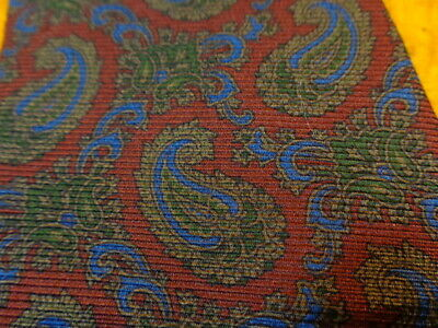 $15.39 • Buy Faconnable ~ Mens Silk Dress Shirt Suit Tie  ~ Red Blue Olive ~ Paisley ~ 60  Xl