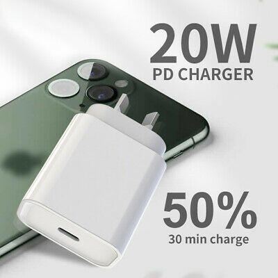 AU18.50 • Buy PD20W Fast Charger  AU Plug USB Compatible With IPhone 12 Pro Max Mini