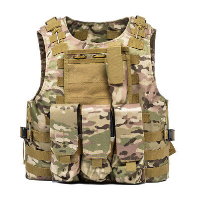 $31.38 • Buy Military Vest Tactical Plate Carrier Holster Army Molle Combat Hunting CS US