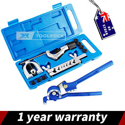 AU35.95 • Buy Toolrock Brake Air Line Double Flare Flaring Tool Kit Set With Tube Pipe Bender
