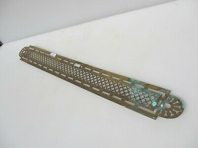 Victorian Brass Finger Plate Push Door Handle Pierced French Antique Old Vintage • 15£