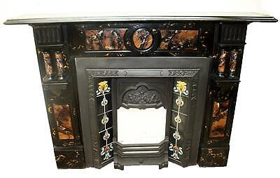 £699 • Buy Antique, Victorian, Marbleized/Painted Slate Fire Surround/Mantle, Twin Pilaster